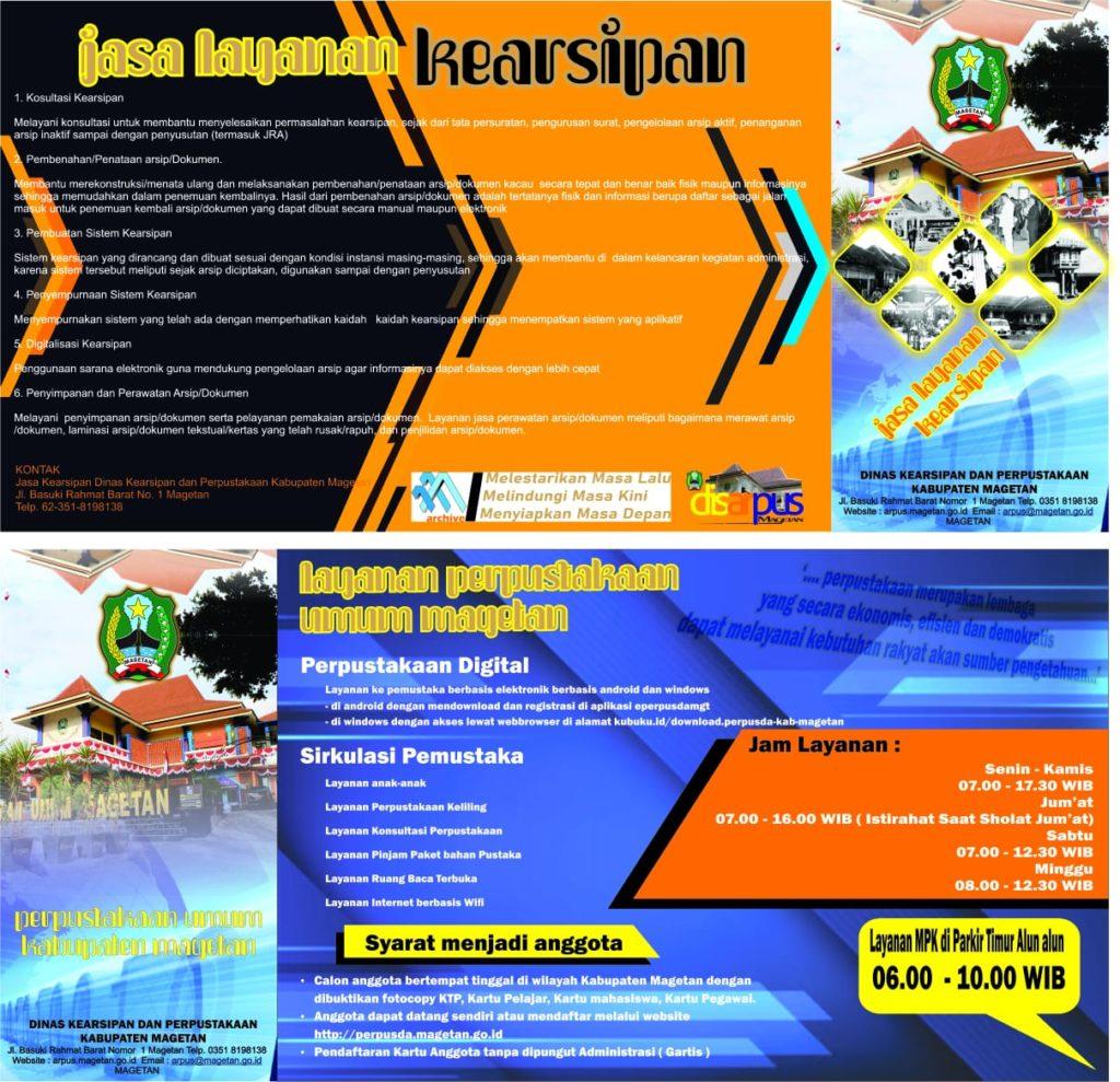 Leaflet Dinas Kearsipan dan Perpustakaan Kabupaten Magetan